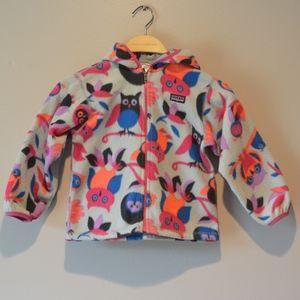 Patagonia Fleece Owl Hooded Jacket Toddler 4T